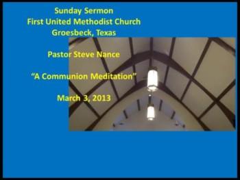 FUMC Sermon - 03/03/2013