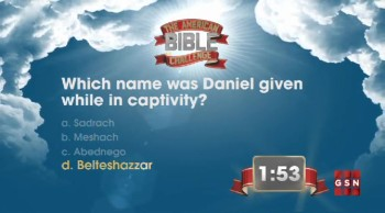 The American Bible Challenge - Trivia Countdown #1