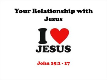 Your Relationship with Jesus