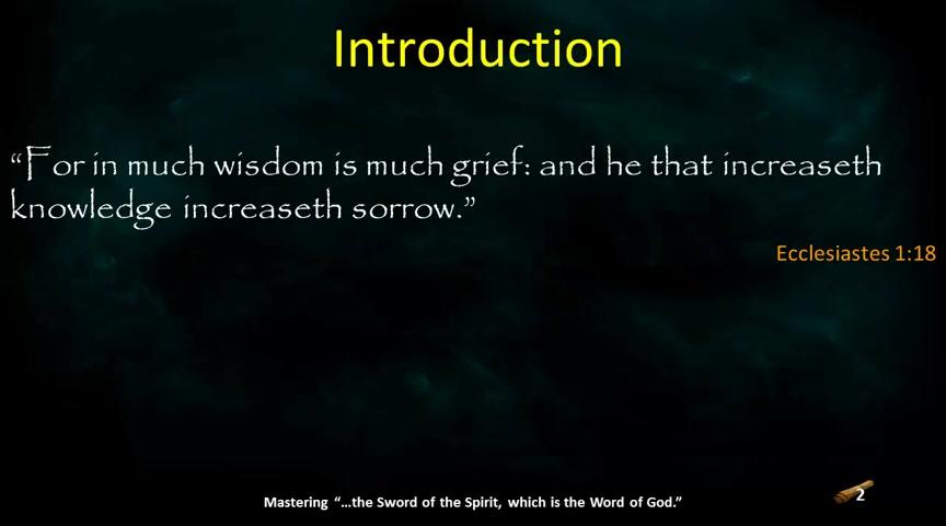 In Much Wisdom is Much Grief, Part 1