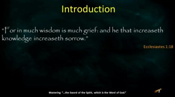 In Much Wisdom is Much Grief, Part 1