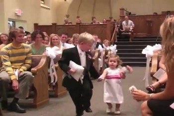 Flower Girl Makes an Unforgettable Entrance :)