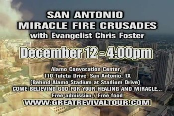 CHRIS FOSTER MINISTRIES / EVANGELIST CHRIS FOSTER / IGNITE THE FIRE TOUR