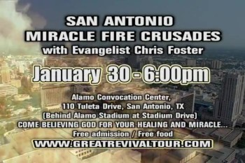 IGNITE THE FIRE TOUR / EVANGELIST CHRIS FOSTER / CHRIS FOSTER MINISTRIES