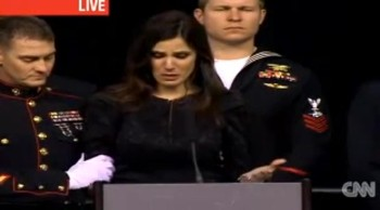 Wife of Slain Navy Seal Gives a Touching Eulogy at His Funeral