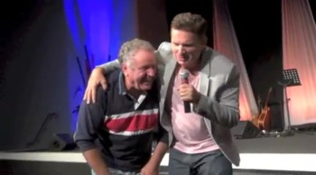 Painful knees healed and man filled with supernatural joy