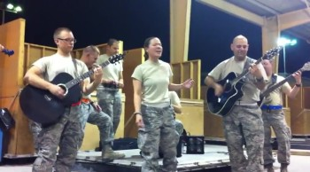 U.S. Soldiers Sing Adele's Rolling In the Deep - AMAZING!!!