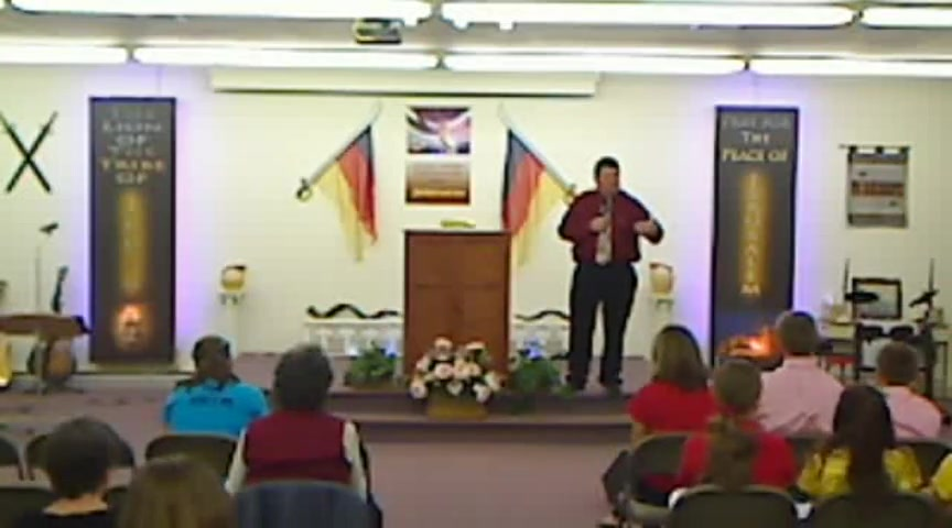 Dave Pine preaching at Wall of Fire 2012