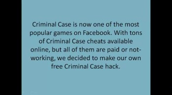 Most popular game in Facebook-Criminal case