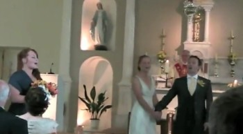 Groom Gives His Bride a Delightful Surprise at their Wedding!!