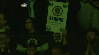 The Boston Community Sings an Emotional National Anthem at a Bruins Game