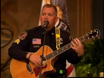 Police Officer Sings I Can Only Imagine at Funeral of Officer Killed in the Line of Duty