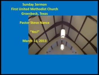 FUMC Sermon - 03/31/2013