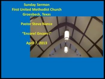 FUMC Sermon - 04/07/2013