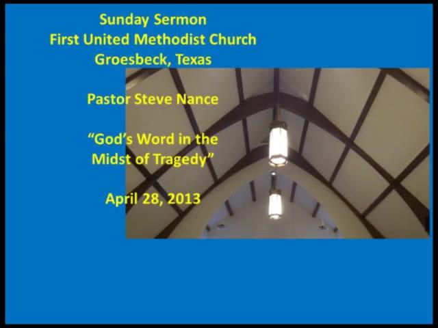 FUMC Sermon - 04/28/2013