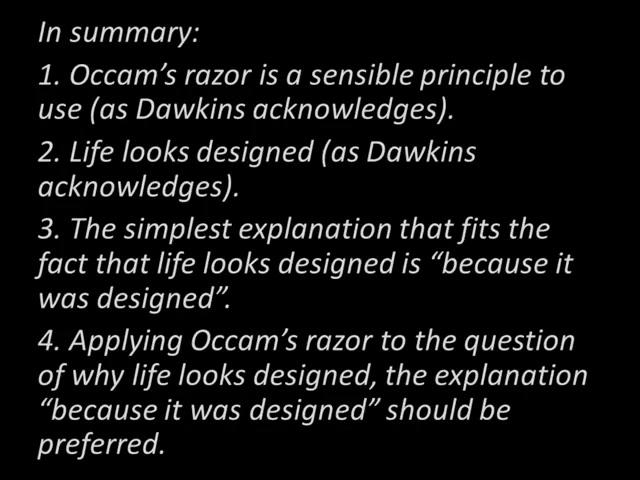 Dawkins' Razor