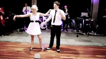 Bride and Groom Cut a Rug Swing Dancing - AMAZING!