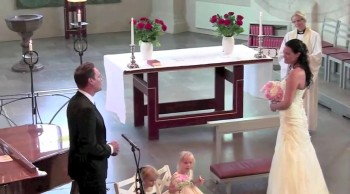 Groom Beautifully Sings God Bless The Broken Road to His Bride