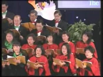 君王將臨; 慶賀這應許; 安睡小聖嬰; Gloria; 叮噹!歡喜高聲唱; 最好的禮; 救主君王今降生; 到各山嶺傳揚 2007年12月23日 聖誕主日