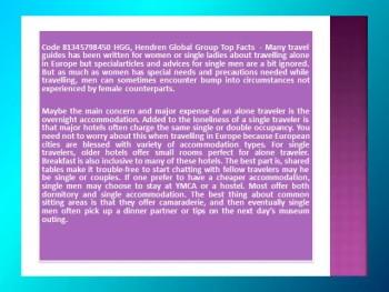 Code 81345798450 HGG, Hendren Global Group Top Facts