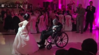 Wheelchair Bound Father and Bride Have the Most Touching First Dance You'll Ever See