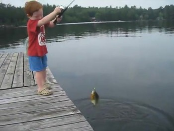 Adorable Little Boy Catches a Fish in RECORD Time!