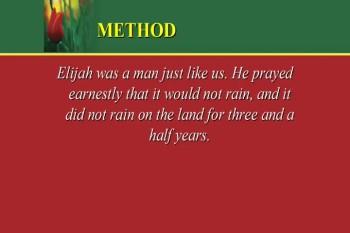 Elijah: Understanding... - Part 2 - 5/5/2013