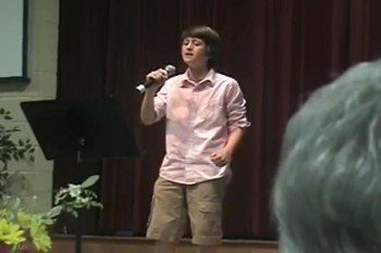 Amazing 11 Year-Old Singer is Overcome by God's Spirit During His Performance - POWERFUL!