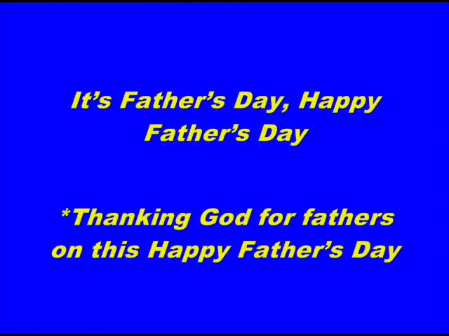 A Father's Day Song (sample)