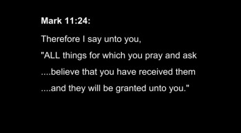 1/3 Beyond Mark 11:24's Miracle Power Promise