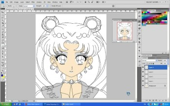 Sailor Moon - Selenit Saturn season2 - adobe photoshop drawings