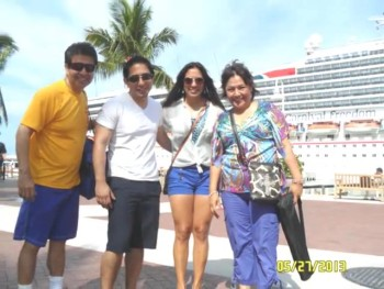 Basurto's family vacation at Carnival Cruise on May 2013