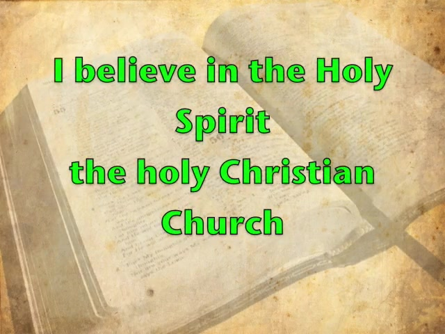 The Apostles' Creed with words