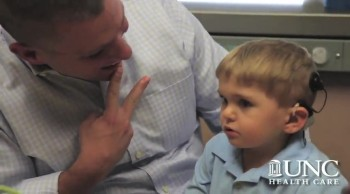 Deaf Child Hears Dad for the First Time - PRECOUS Reaction!