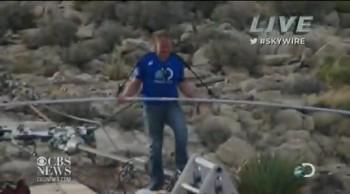 Christian Tight Rope Stuntman Praises Jesus Entire Way Over Grand Canyon