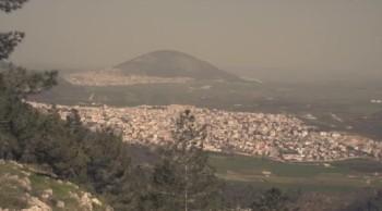 Le village de Cana et le mont Thabor