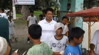 Giving Out Gospel Tracts Near Baybay, Leyte
