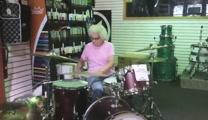 Granny Amazes Music Shop With Drum Skills!
