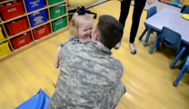 2 Year-Old Has a DARLING Reaction to Her Soldier Daddy's Homecoming