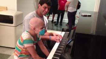 College Football QB Plays a Duet With a Girl Battling Cancer