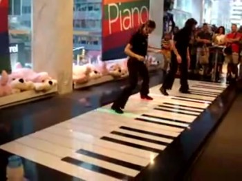 An Incredible Piano Duet - Using Feet!