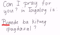 Tagalog - Can I Pray For You