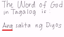 Tagalog - The Word of God