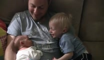 Big Brother is Overwhlemed with Joy Meeting His Newborn Sister