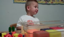 2 Year Old Cooper Hears Mommy's Voice for the First Time! -