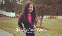 "Chloe Fuentes, 8, Performs ""Go Light Your World""."