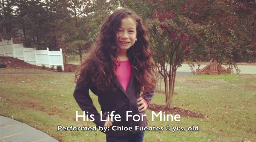 Chloe Fuentes, 8, sings