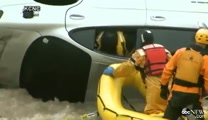 Incredible Rescue of Man in Submerged Car in Colorado