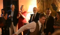 Groom and Best Man Perform a Hilarious Dance for Bride