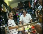 Little Boy Sings the Blues in a Guitar Shop